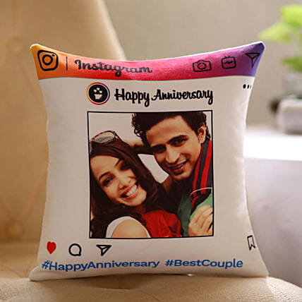 Personalised Instagram Anniversary Cushion Hand Delivery