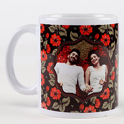 Personalised Wedding Anniversary Floral Mug Hand Delivery