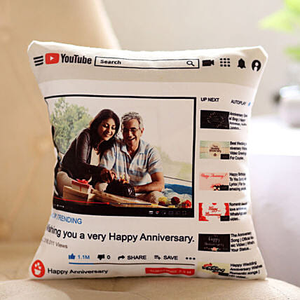 Personalised Youtube Anniversary Cushion Hand Delivery