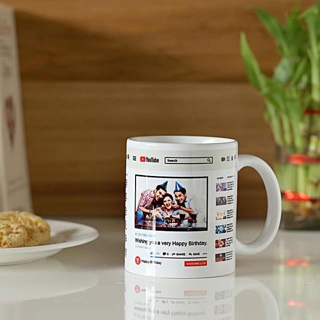 Personalised Youtube Birthday Mug Hand Delivery