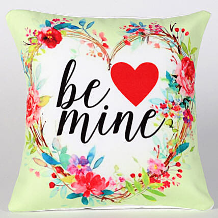 Be Mine Cushion Hand Delivery