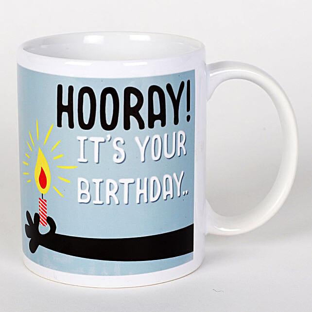 Hooray Birthday Mug Hand Delivery