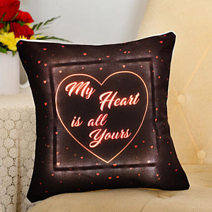 My Heart Is All Yours LED Cushion Hand Delivery