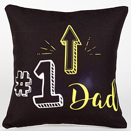 Number 1 Dad Cushion Hand Delivery
