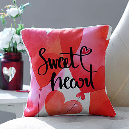 Sweet Heart Cushion Hand Delivery