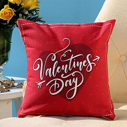 Valentines Day Heart Cushion Hand Delivery