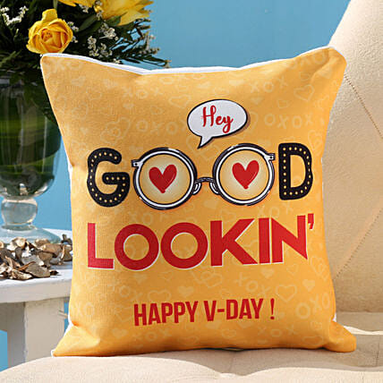 Valentines Flirty Wishes Cushion Hand Delivery
