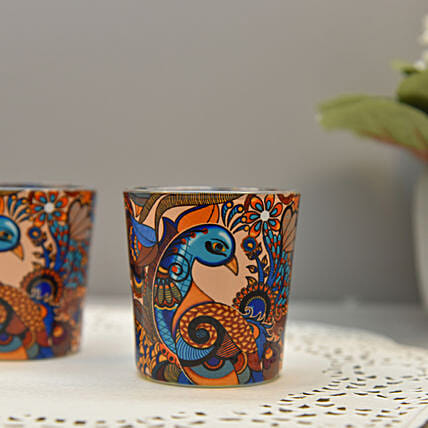 Online Peacock Admiration Candle Votives