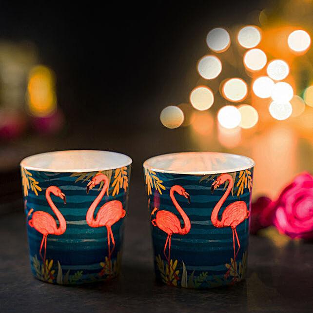 Online Tropical Flamingo Candle Votives