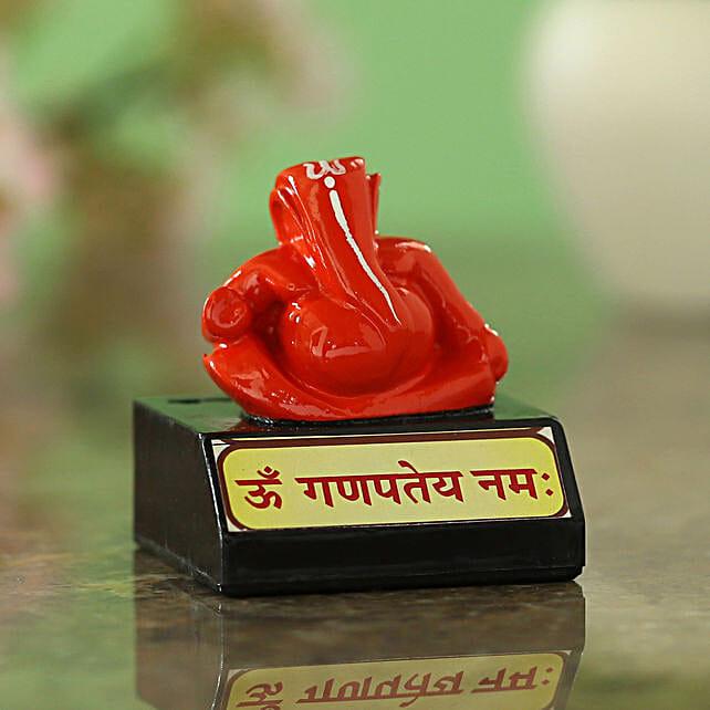 online Red Ganesha Idol On Stand:Ganesh Idols