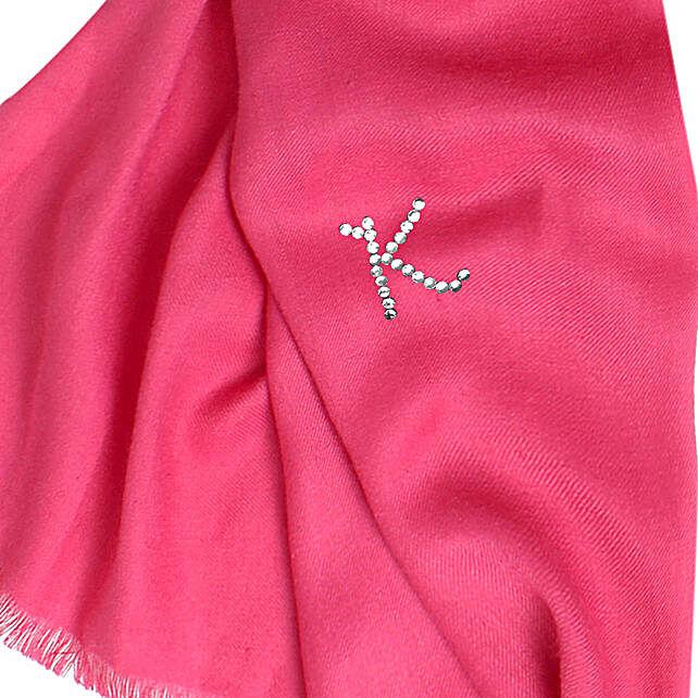 Online Customised Rose Pink Pashmina