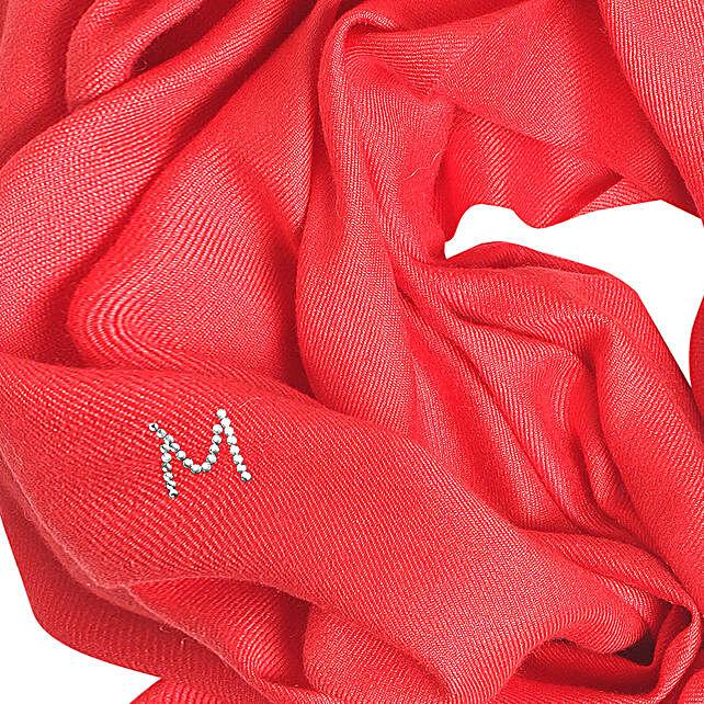 Online Customised Royal Red Pashmina