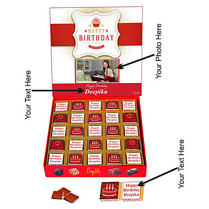 personalised chocolate for bday