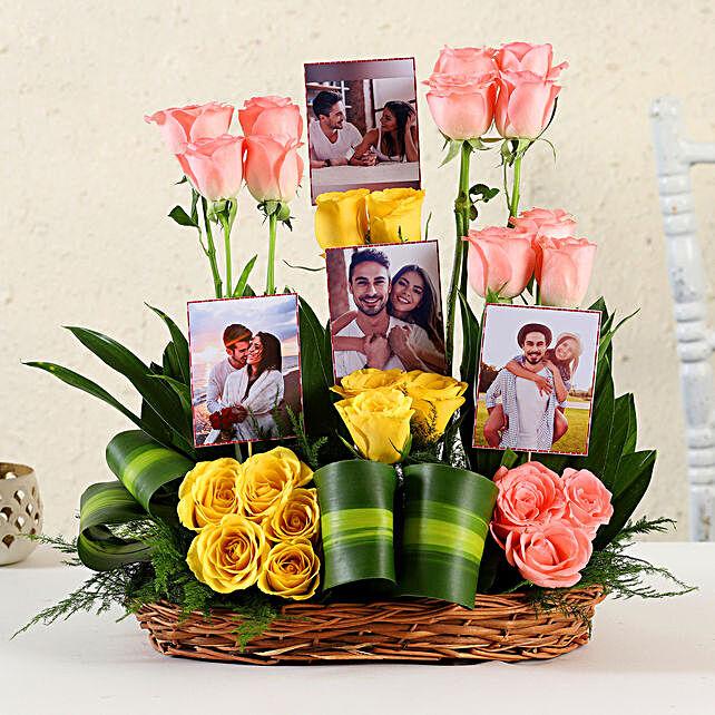 Online Customised Pink Roses Arrangement