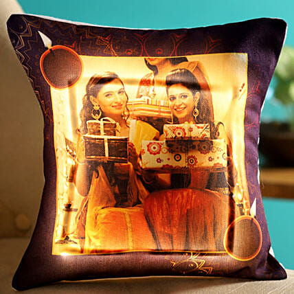online personalised led cushion for deepavali