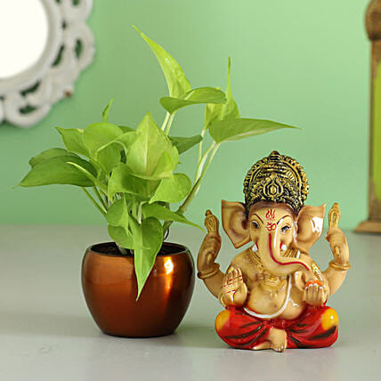 money plant n idol for diwali