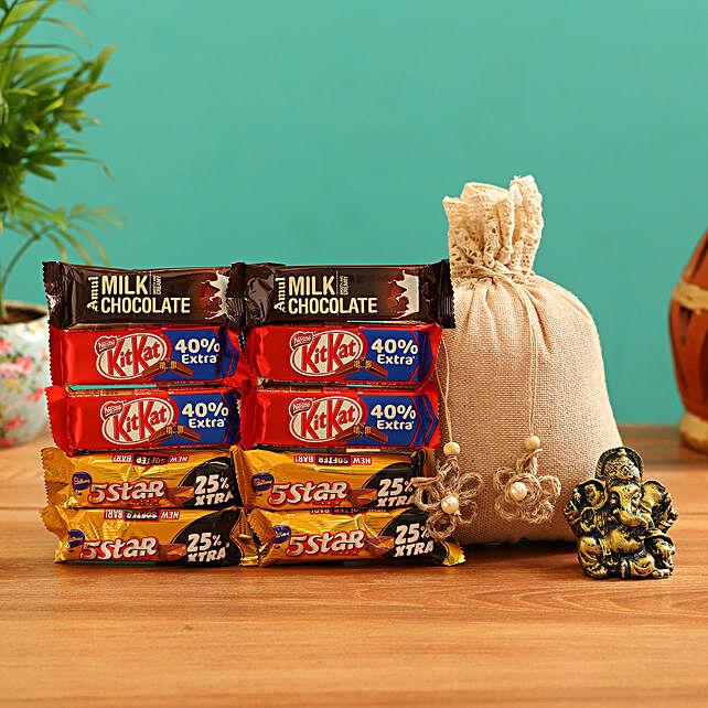 Buy  Ganesha Idol and Chocolates