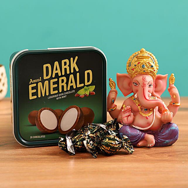 Online Ganesha Idol and Chocolate:Mint Chocolates