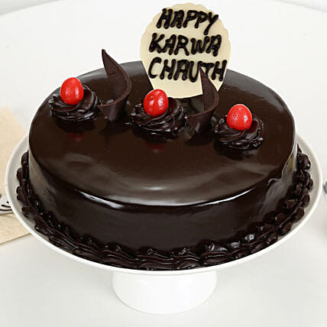 Karwa Chauth Truffle Cake:Karwa Chauth Cakes