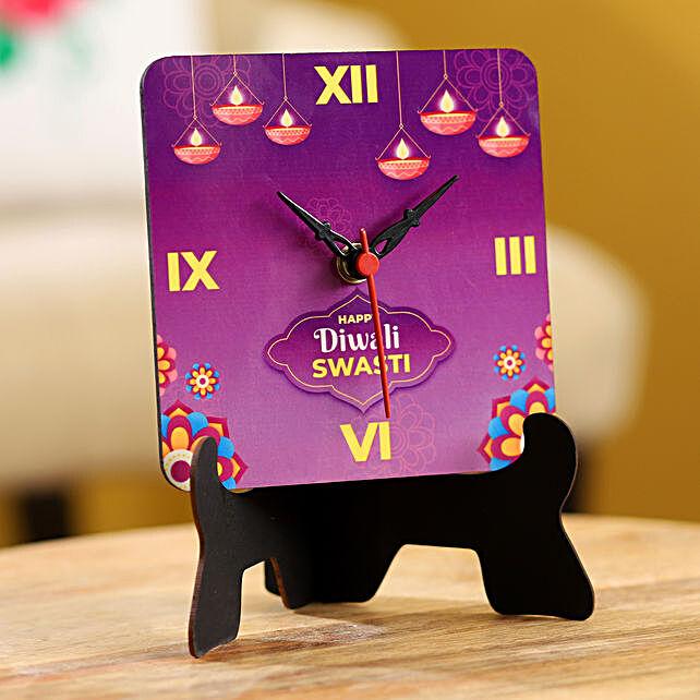 diwali printed happy diwali clock