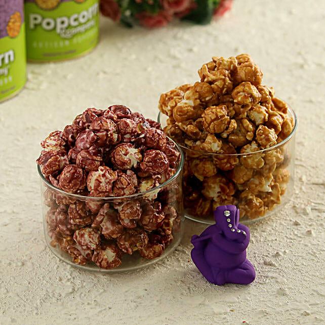 Caramel Crisp & Blueberry With Ganesha Idol:Premium Popcorns