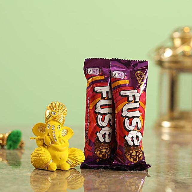 Fuse Chocolate Yellow Ganesha Idol