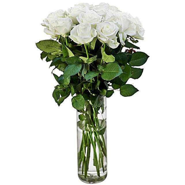 Sincere White Rosy Delight