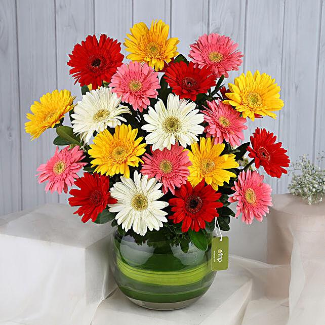 Summery Gerbera Blooming Bouquet:House Warming Flowers