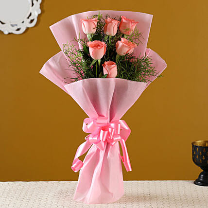 Order Pink Roses Bunch