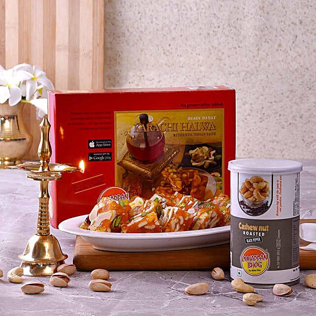 Chhappan Bhog Karachi Halwa & Cashews With Kerala Deep