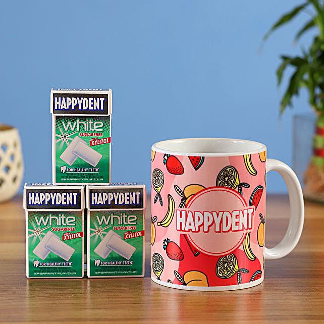 happy dent mug sugarfree chewing gum