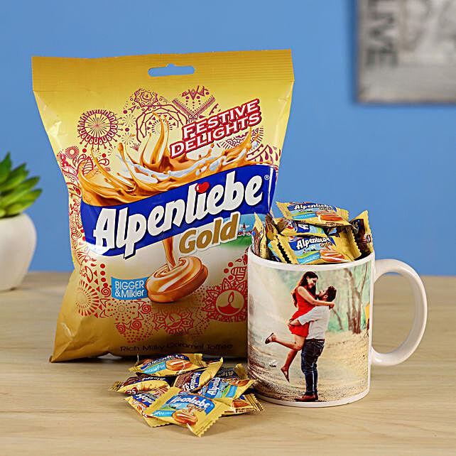 personalised mug alpenliebe gold combo