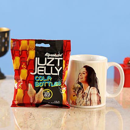 personalised mug juzt jelly cola bottles candy