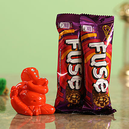 Cadbury Fuse Chocolate Bars & Orange Ganesha Idol Combo  Online