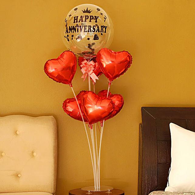 Hearty Happy Anniversary Balloon Bouquet