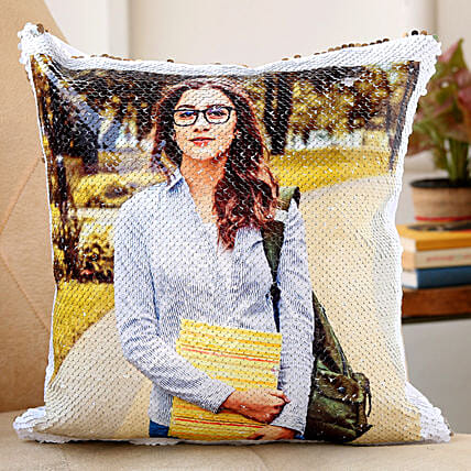 sequin cushion for her