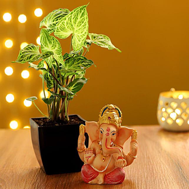 diwali plants combo for parents:Ganesh Idols
