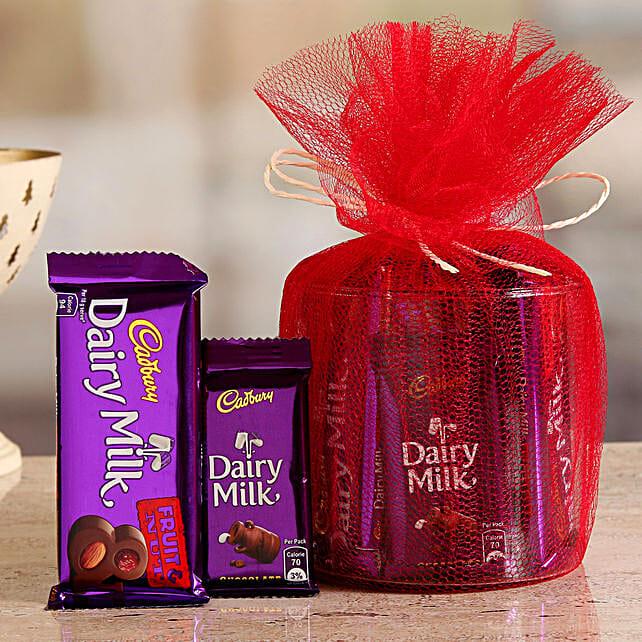 Online Cadbury Fruit N Nut And Dairy Milk Gift Hamper