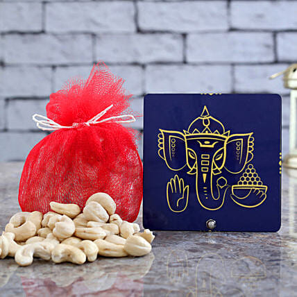 Divine Ganesha Table Top With Cashews Combo