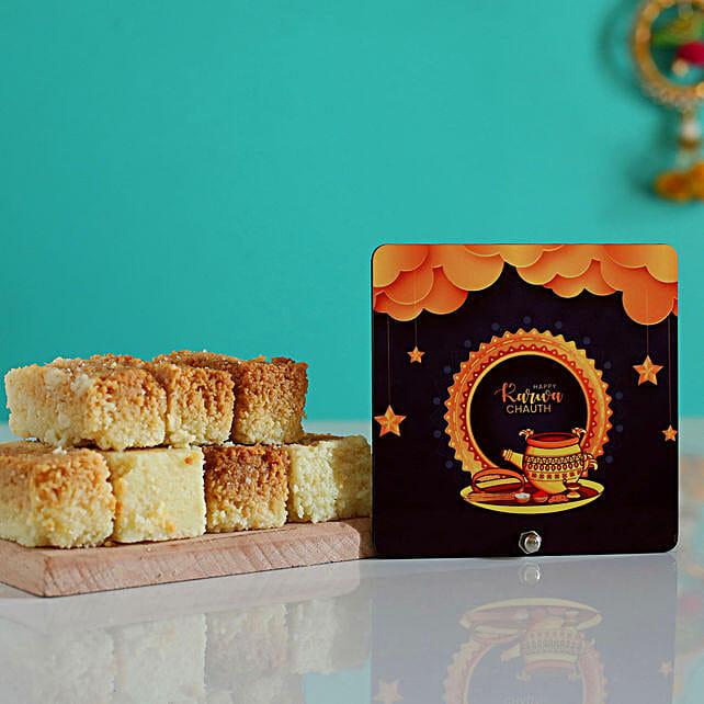 Karwa Chauth Stars Table Top With Milk Cake:Karva Chauth Sargi Gifts