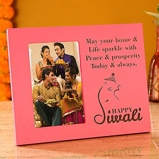 diwali wishes photo frame