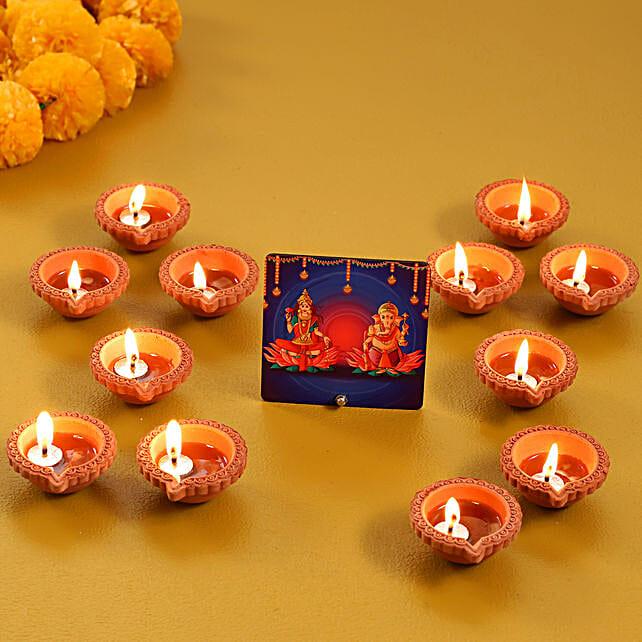 Online Table Top with Diya Set