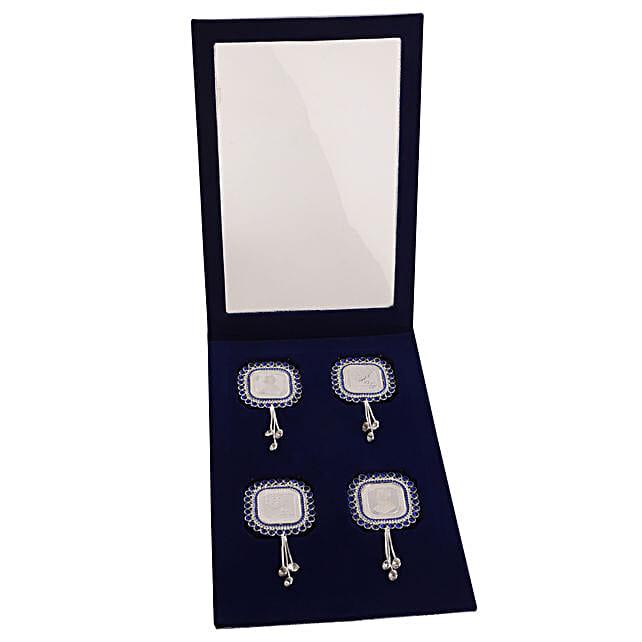 square 4 silver coin set
