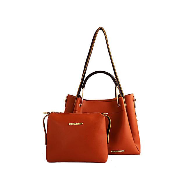 Bagsy Malone Brown Tote Bag Combo