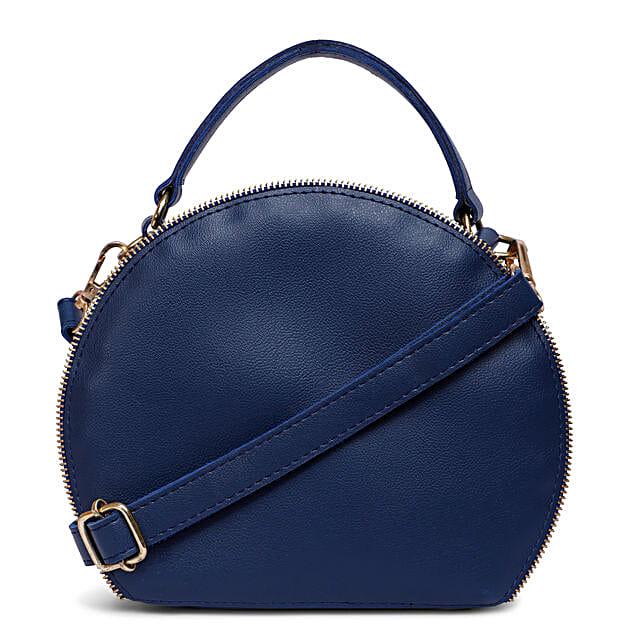 Bagsy Malone Round Shape Bag- Blue
