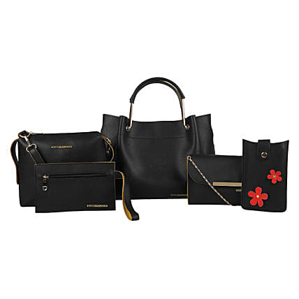 Bagsy Malone Set Of 5 Black Tote Bags