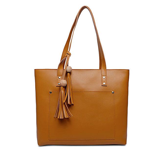 Bagsy Malone Women's Tote Bag- Walnut Brown