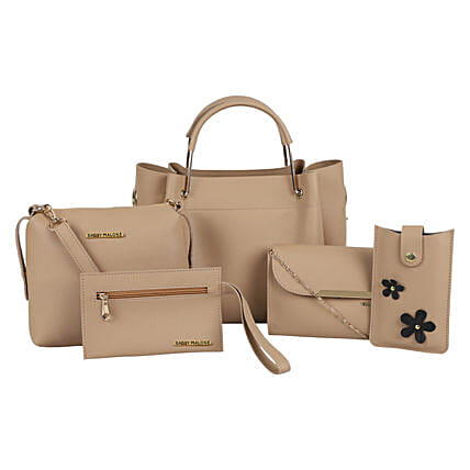 Bagsy Malone Women's Tote Combo Bag of 5