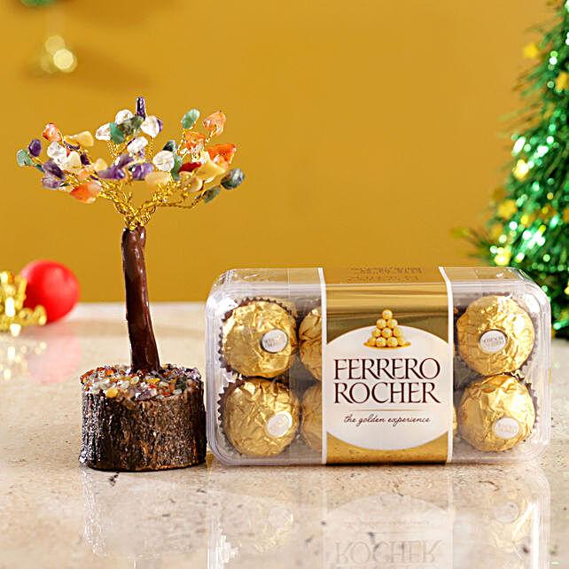 Colourful Stone Wish Tree & Ferrero Rocher Box