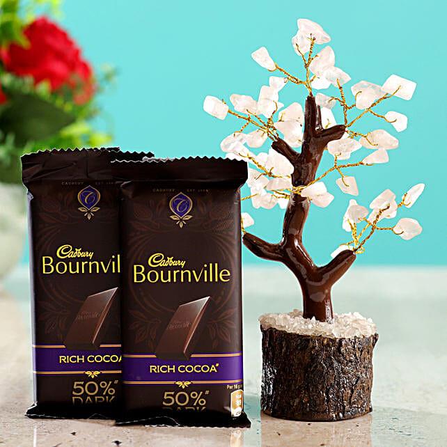 Rose Quartz Wish Tree & Cadbury Bournville